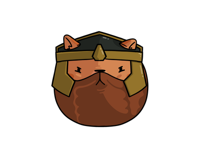 Gimli Cat helmet cartoon procreate lotr cat gimli