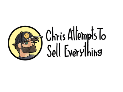 Chris Attempts to Sell Everything face typogaphy procreate illustration