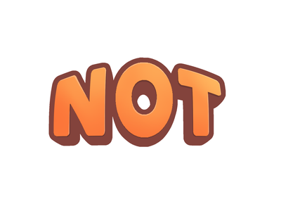 Not type typography procreate sticker no