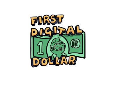 First Digital Dollar lettering dollar aweber aj illustration ecommerce