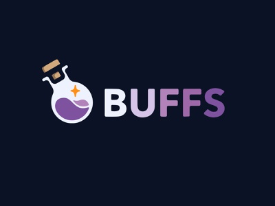 BUFFS Logo illustration procreateapp procreate icon bottle potion logo