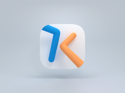 Kinome 3D Icon for Mac OS Big Sur logo user interface ui icon ui mac os icon mac os big sur icon macos big sur logo app icon 3d illustration 3d modeling 3d icons 3d icon 3d