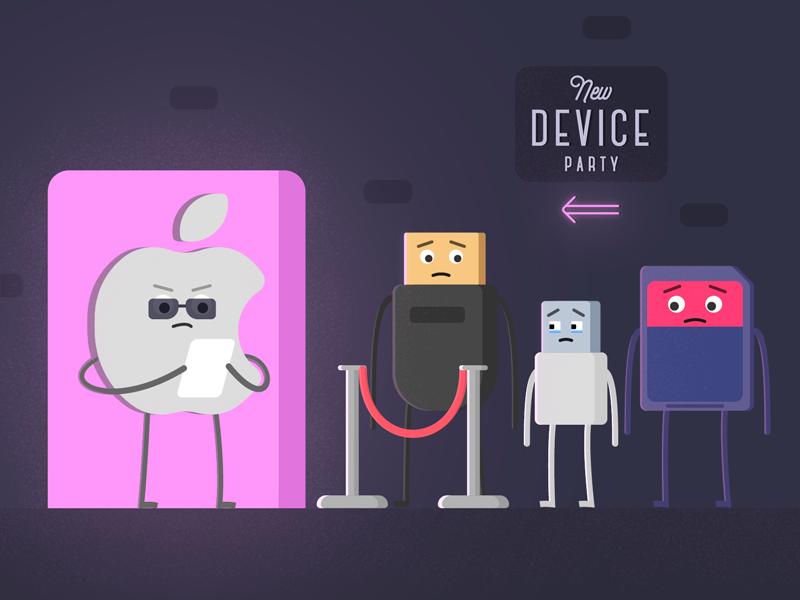 New device party macbook nightclub sd card usb hdmi apple