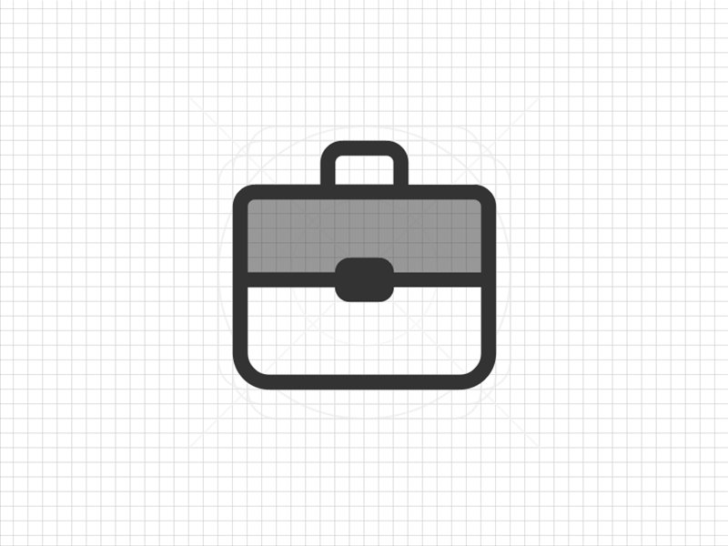 Work icon duotone case grid icon work