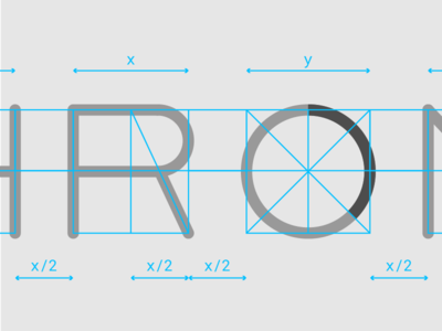 Chronos logo system type animation branding typography circle motion logo