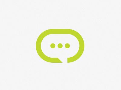 Open subtitle logo green branding vector design logo