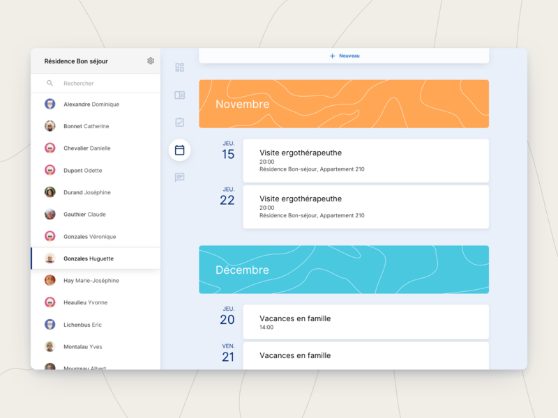 aem - Calendar webdesign interface ui ux health design