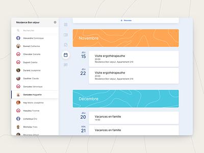 aem - Calendar webdesign interface ui ux health design