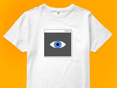 Artificial Intelligence T-shirt for sale! computer graphics window t-shirt eye interface retro ui design illustration vector