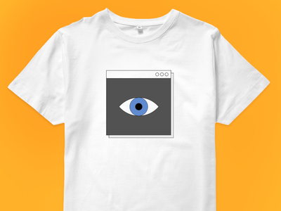 Artificial Intelligence T-shirt for sale! computer graphics window t-shirt eye interface retro ui design illustration vector
