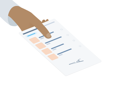 Trust website app flat branding health illustration design vector
