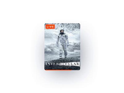 Responsive player tv show tv app tv netflix interstellar player movie atomic design app ux ui