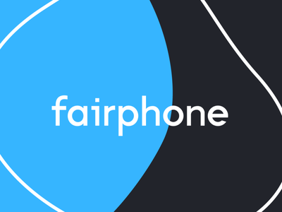 fairphone logo blue organic typography logo branding vector design