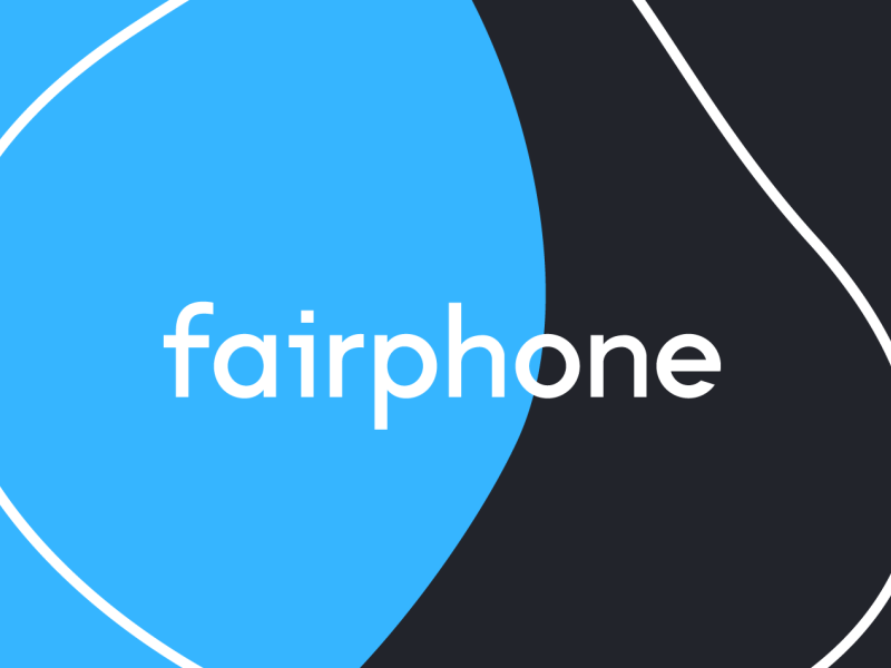 fairphone logo blue organic typography logo branding vector design