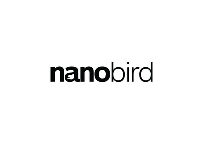 Nanobird Logo nano bird logo icon typography typeface