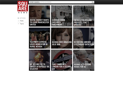 Square News UI ui ux typography app product css html web design
