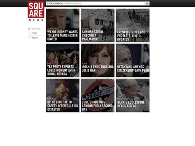 Square News UI ui ux typography app product css html web design