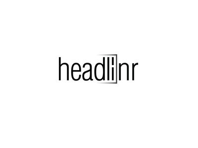Headlinr Logo logotype branding type clean illustration paper editorial logo typography icon app news