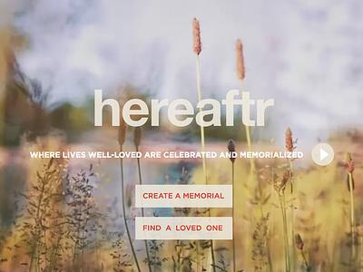 Hereaftr photo sharing landing page web design