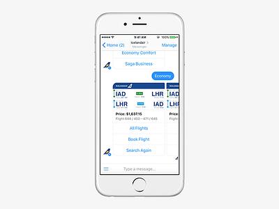 Icelandair Facebook Chatbot chatbots facebook messenger messenger travel boarding pass icelandair