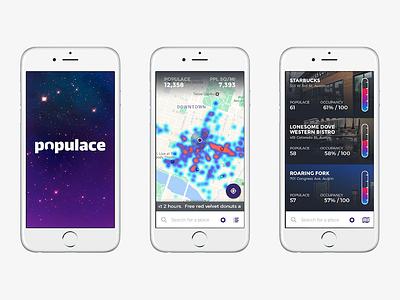 Crowd Visualization App ux ui app data visualization visualization crowds