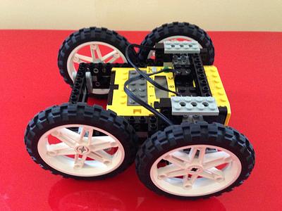 Lego Robot Car toy play block wheel brick car robot legos lego