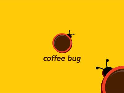Coffee Bug logo mug mark logotype logo food drink design concept cup coffee branding brand