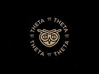 Theta Pi Theta owl logo