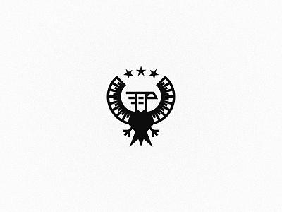 Eagle logo wings simple modern logotype logo heraldry heraldic eagle branding brand black bird