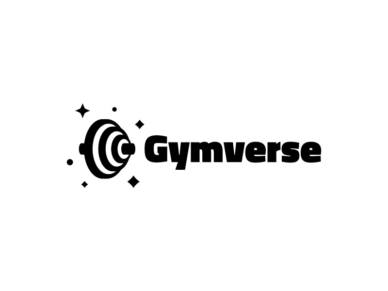 Gymverse universe strong strength stars space logotype logo health gym fit branding brand