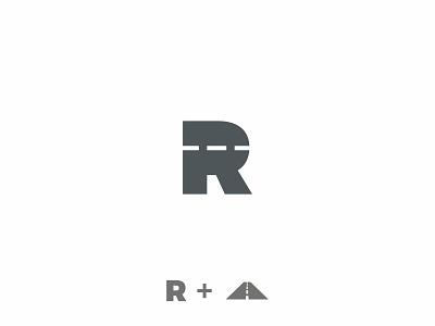 R – Road typography type road race mark logotype logo lettermark letter branding brand asphalt