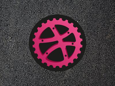 Dribbble Gear sticker mule sticker playoff movement logo illustration gear dribbble bike bicycle ball asphalt