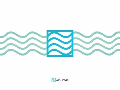 Trip Ocean brand branding design lines logo logotype minimal ocean sea vector water wave