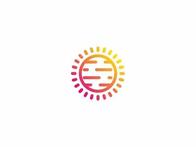 Planet vector space simple minimal mark logotype logo line icon design branding brand