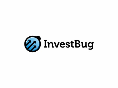 Invest Bug arrows brand branding design financial icon insect logo logotype mark simple vector