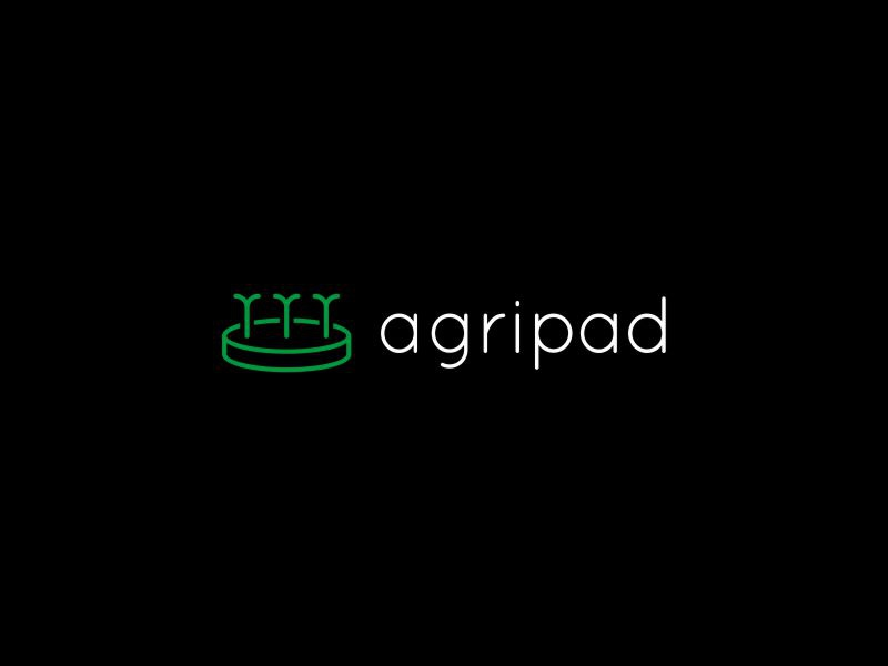 Agripad agriculture brand branding green lines logo logotype minimal natural nature seed vector