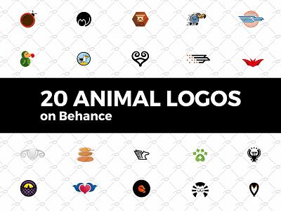 20 Animal Logos on Behance snake ram pegasus paw logo lion eagle cat bull bug bird bat