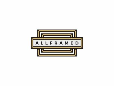 All Framed picture painting minimal logotype logo image gallery frame design branding brand art