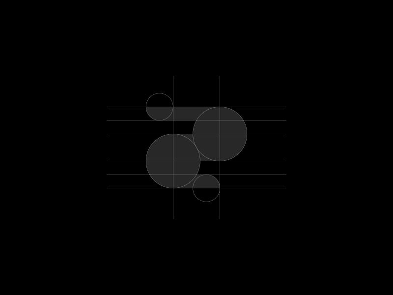 Rabbit logo grid animal brand branding bunny construction geometric flat logo logotype mark rabbit silhouette
