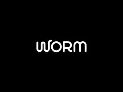 Worm wordmark vector typography type simple logotype monoline minimal design clean brandname brand