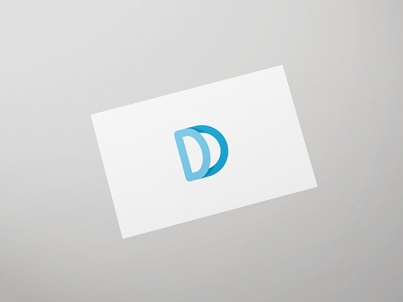 Double D lettermark simple monogram modern mark logo letter initial graphic design clean card business brand