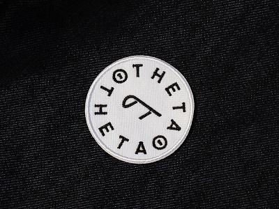 Theta Pi Theta simplistic patch simple patch logotype logo golden identity embroidery circle branding brand badge apparel