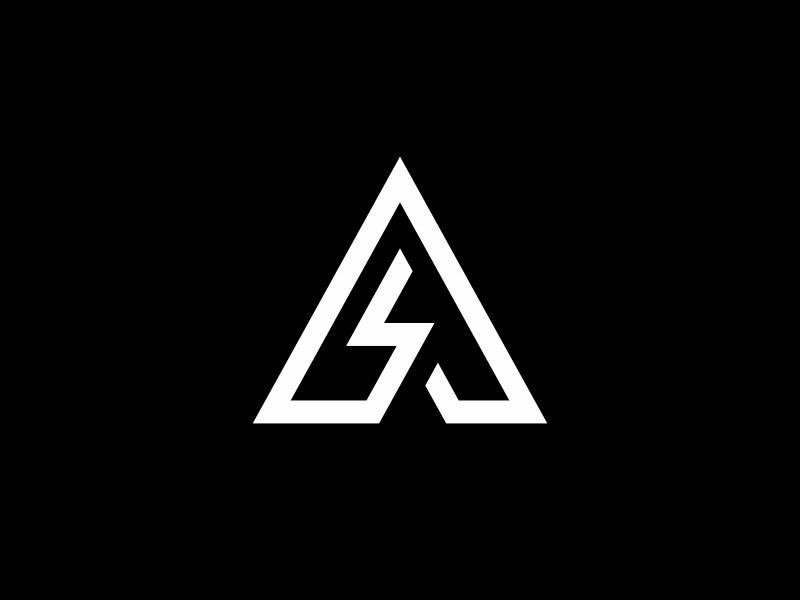 Minimal A monogram minimal mark logo line lightning bolt lettermark letter geometric design energy branding