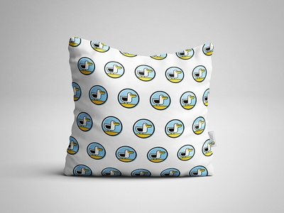 Happy Seagull pillow