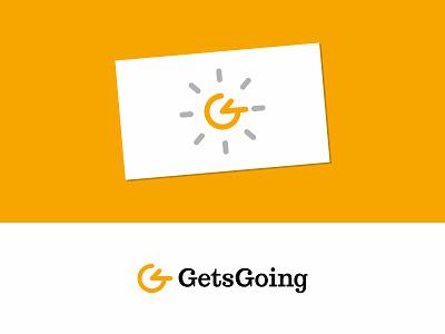 GetsGoing time monogram minimal mark logo lettermark letter identity design clock busines card branding