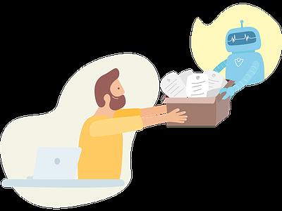 Documents/Gazette API - Robot human and robot robot art board illustration technology vector colour character