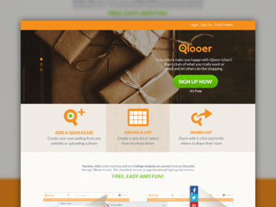 Qlooer Landing Final application gift giving gifts qlooer clues made with invision