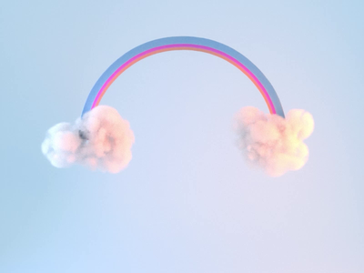 Rainbhaaaw funny silly rainbow clouds motion graphics motion design motion octane render octane aftereffects cinema4d animation