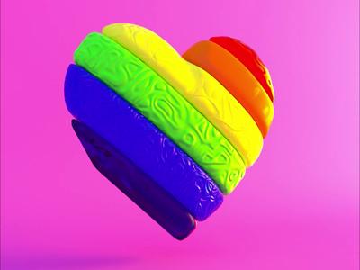 Love Wins love lgbt heart c4d 3d motion design design cinema 4d octane render octane motion graphics motion animation