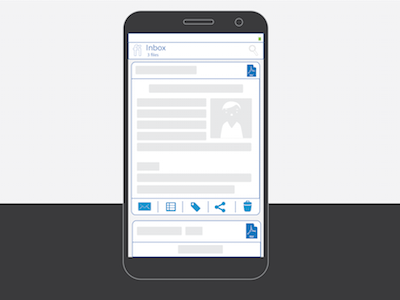 Mobifile Feed View mobile ui design ux